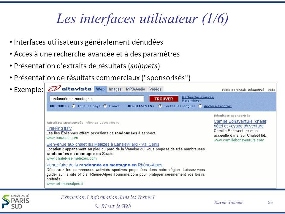 Les interfaces utilisateur (1/6)