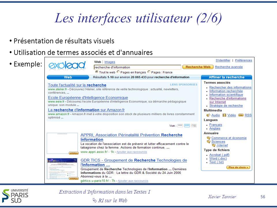 Les interfaces utilisateur (2/6)