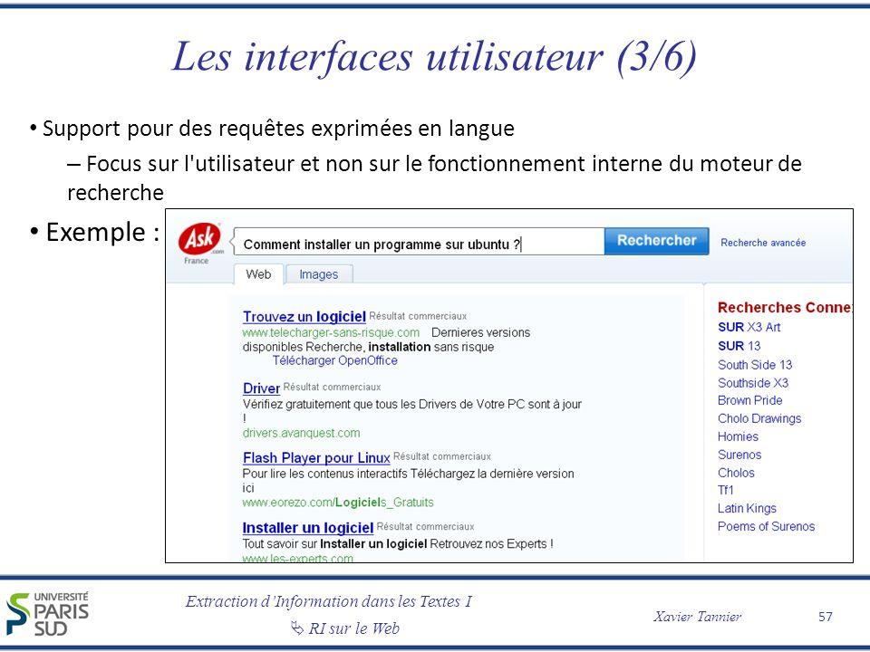 Les interfaces utilisateur (3/6)