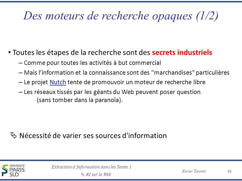 Des moteurs de recherche opaques (1/2)