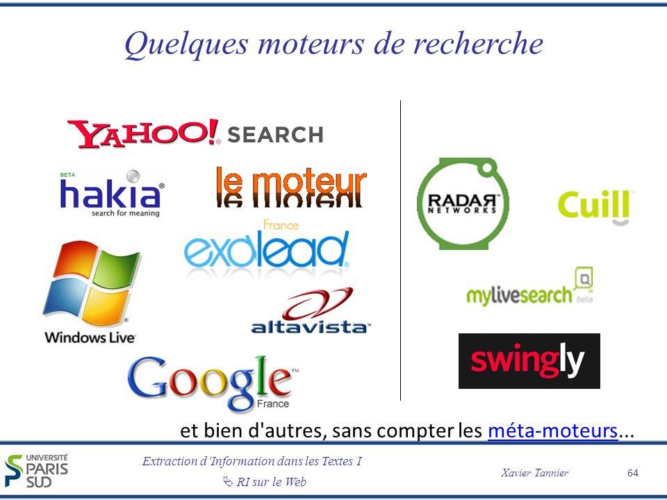 Quelques moteurs de recherche