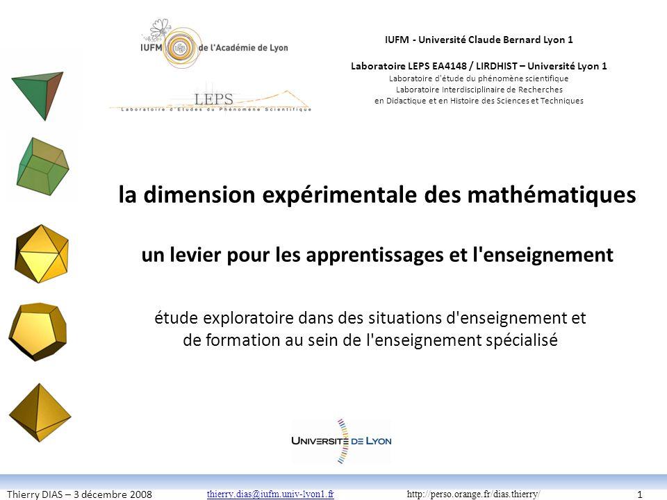 la dimension expérimentale des mathématiques