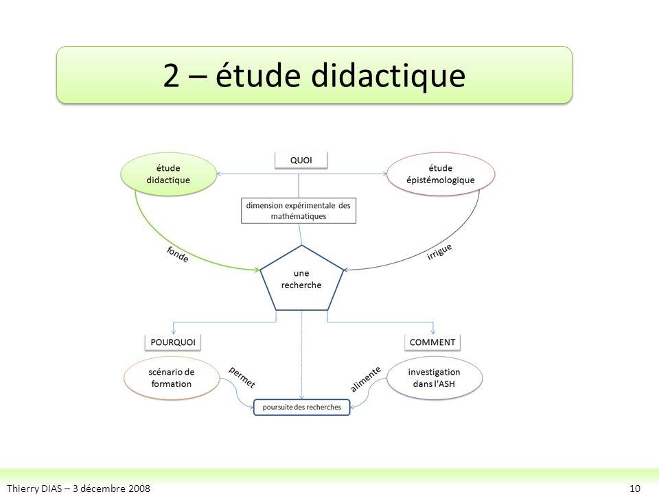2 – étude didactique