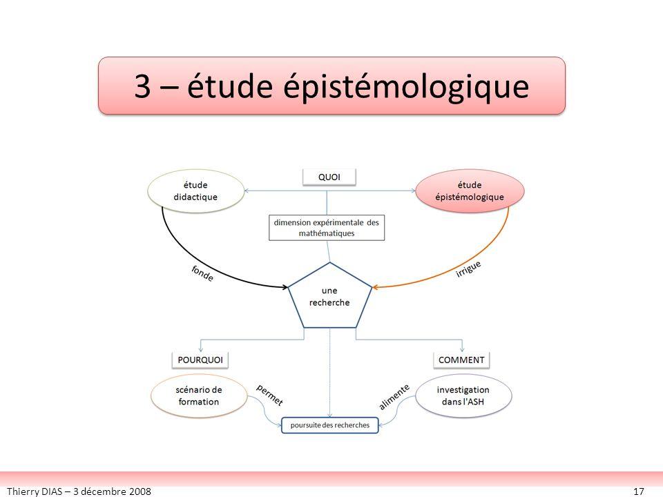 3 – étude épistémologique