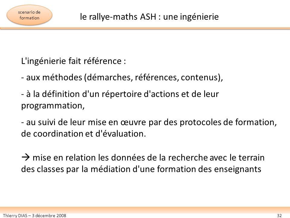 le rallye-maths ASH : une ingénierie