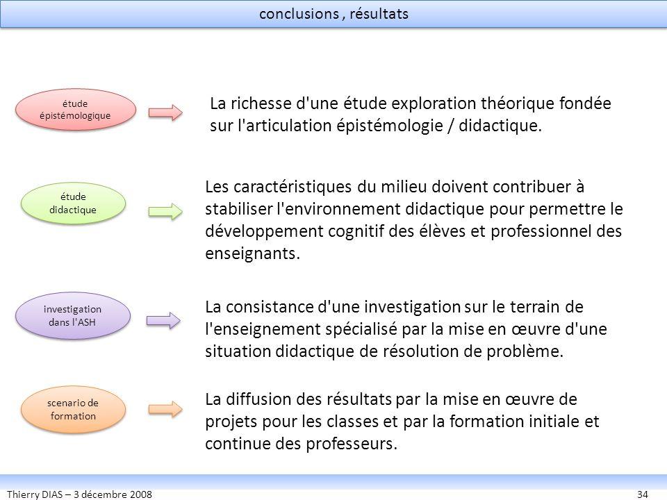 conclusions , résultats