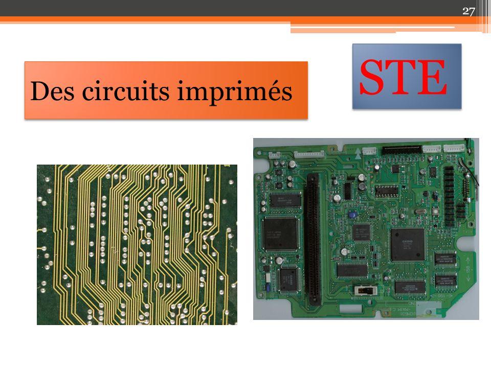 Des circuits imprimés