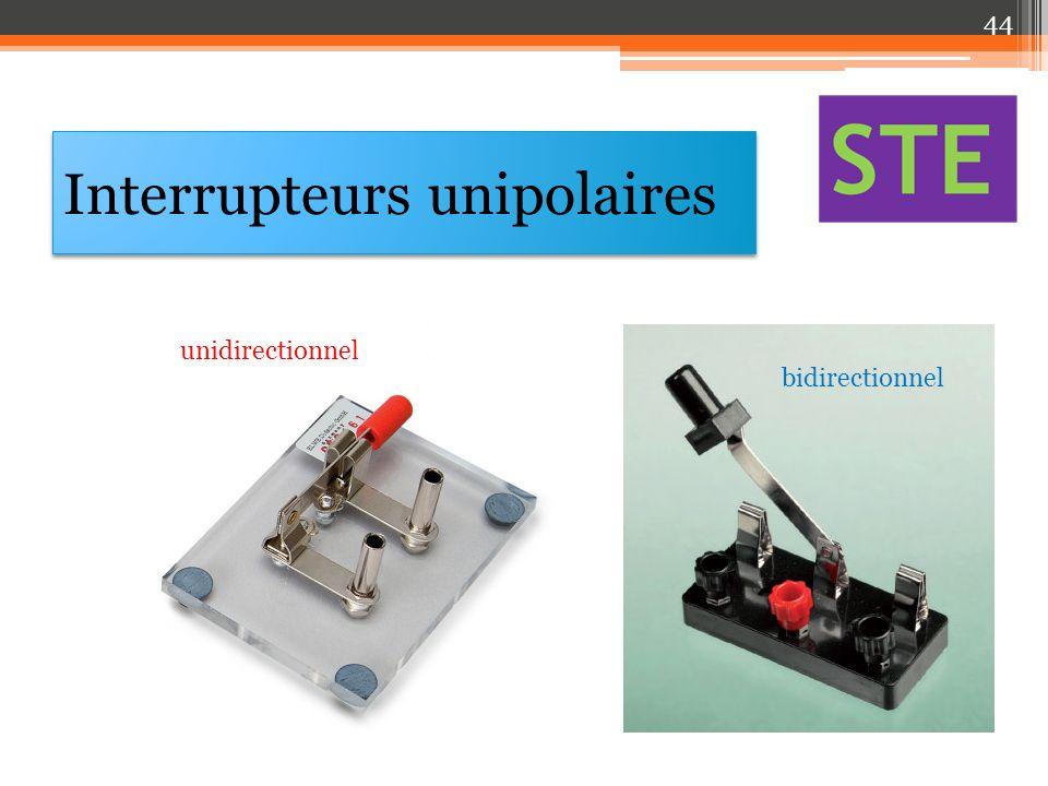 Interrupteurs unipolaires