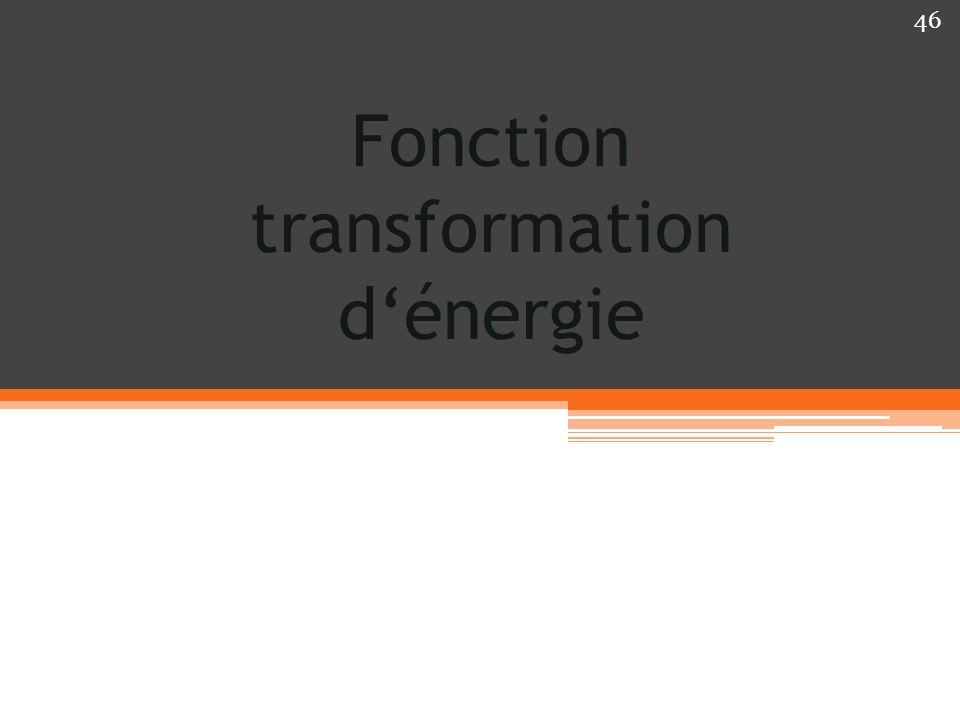 Fonction transformation d'énergie