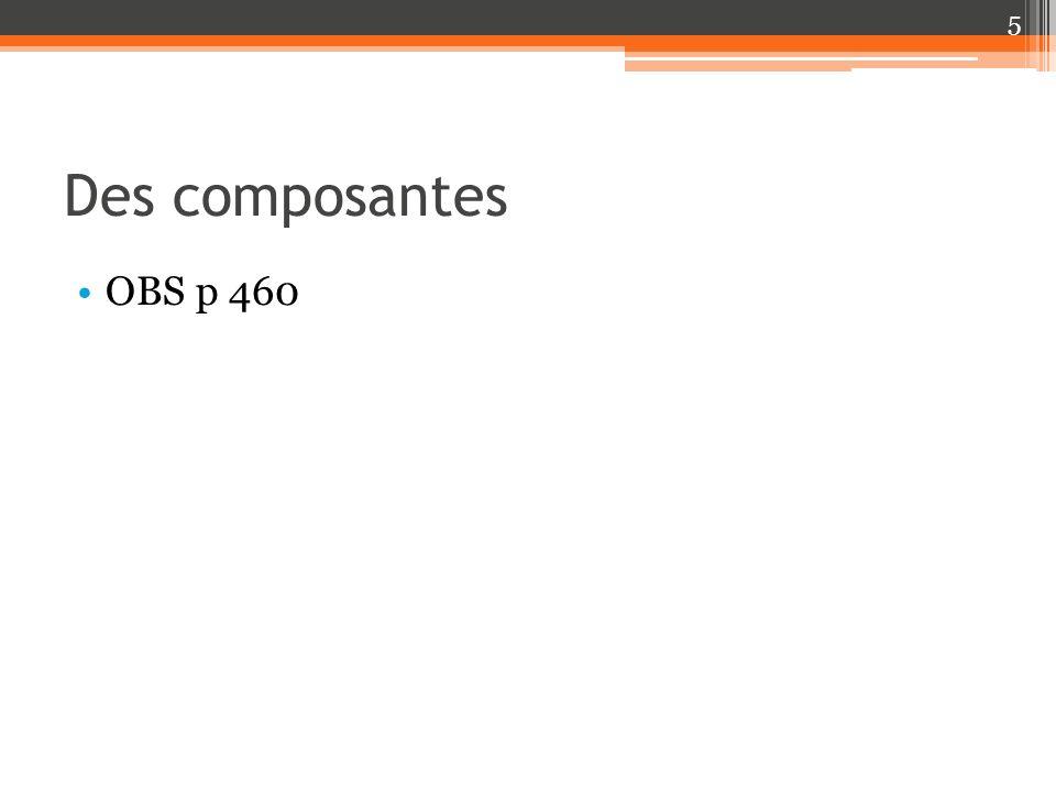 Des composantes OBS p 460