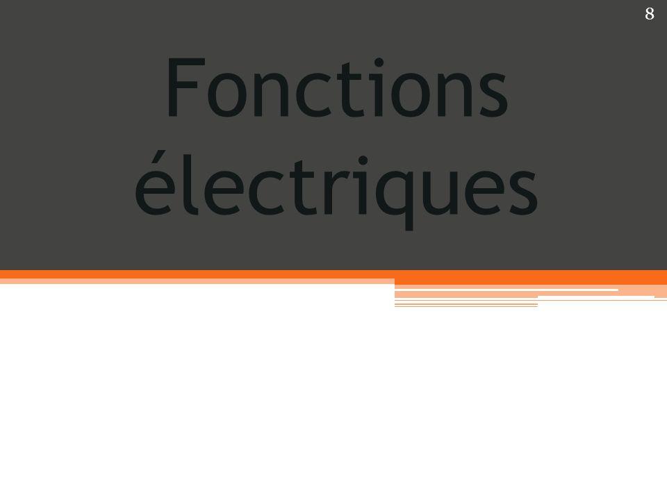 Fonctions électriques