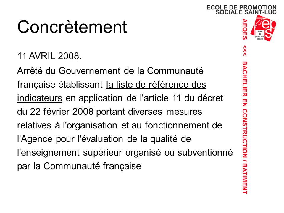 Concrètement 11 AVRIL 2008.