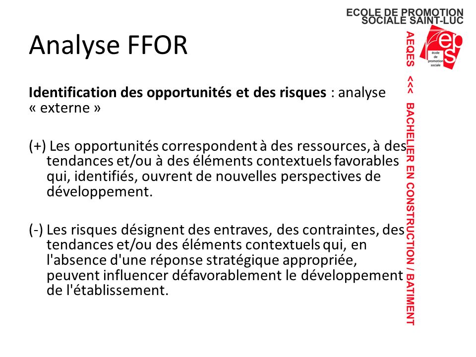 Analyse FFOR