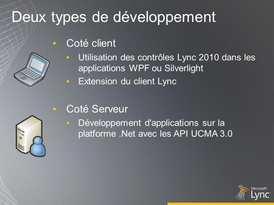 Deux types de développement