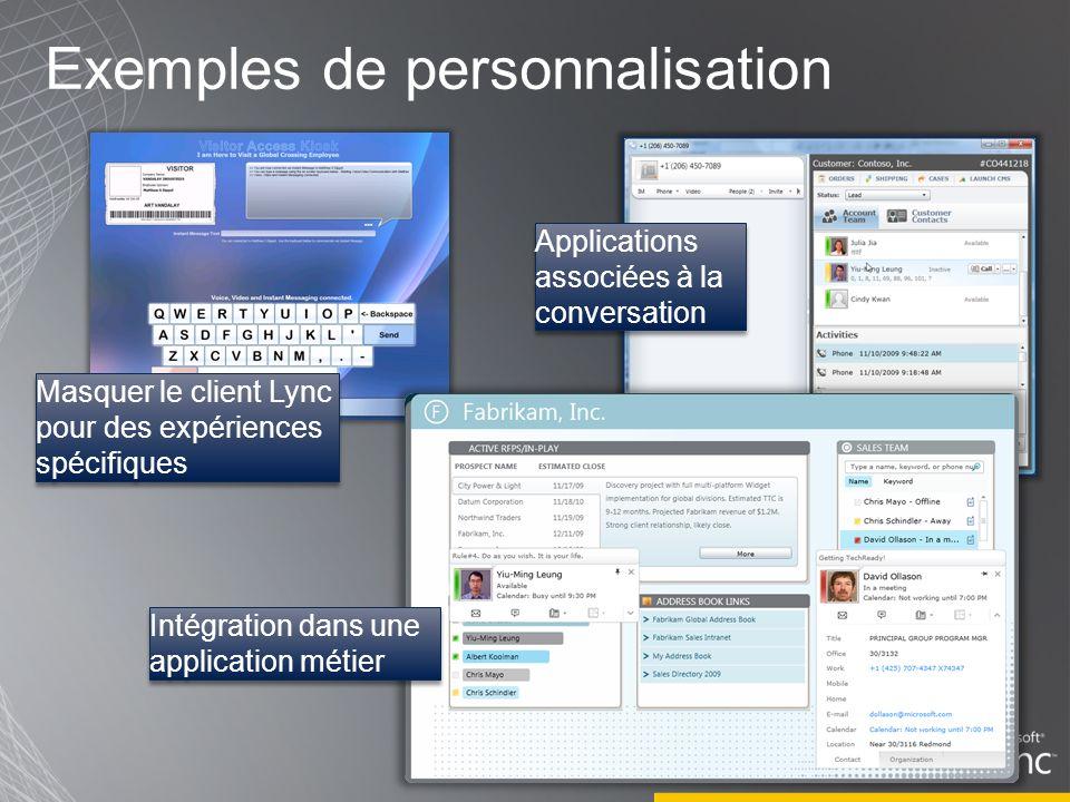 Exemples de personnalisation
