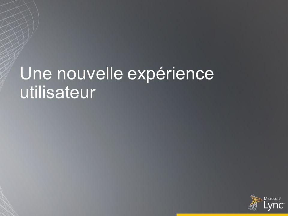 Une nouvelle expérience utilisateur