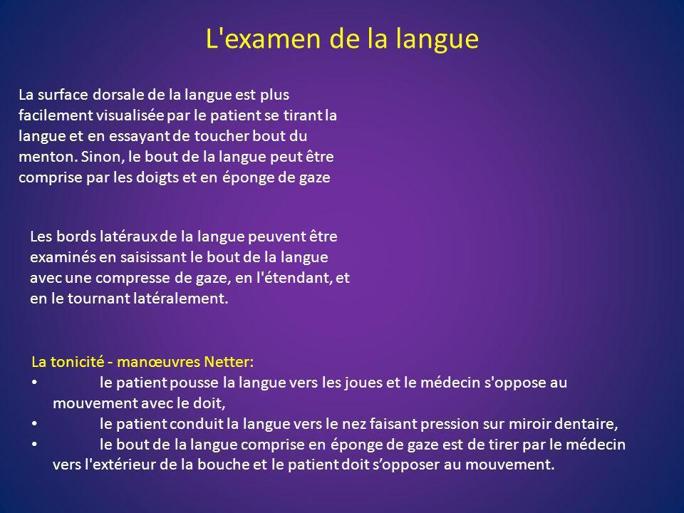 L examen de la langue
