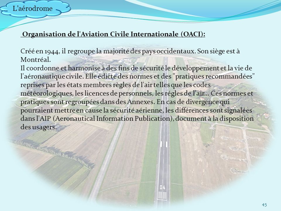 Organisation de l Aviation Civile Internationale (OACI):