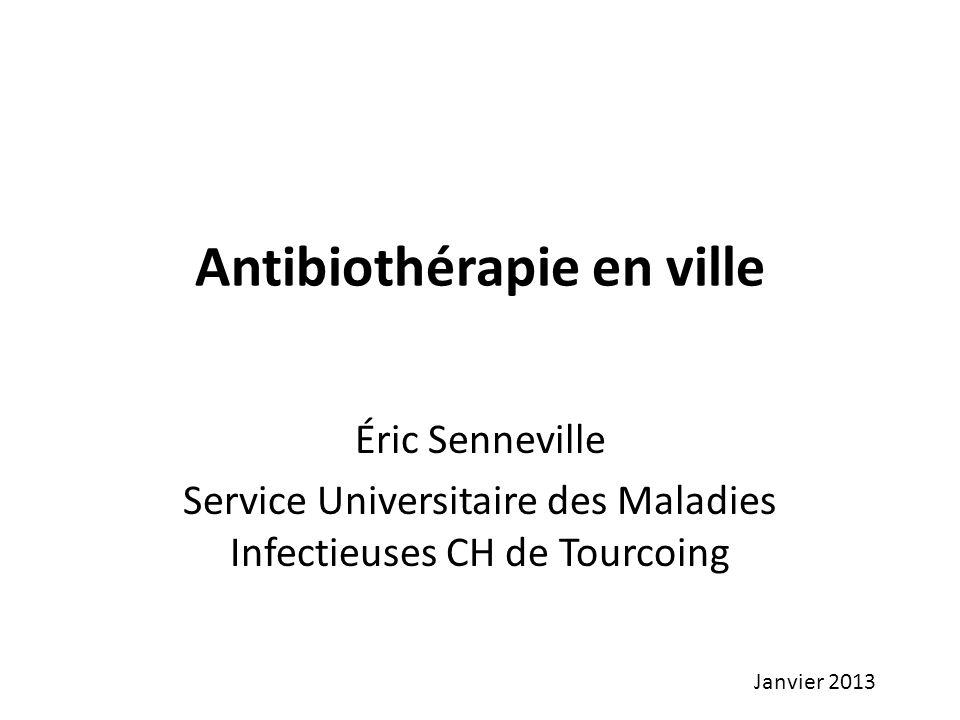 Antibiothérapie en ville