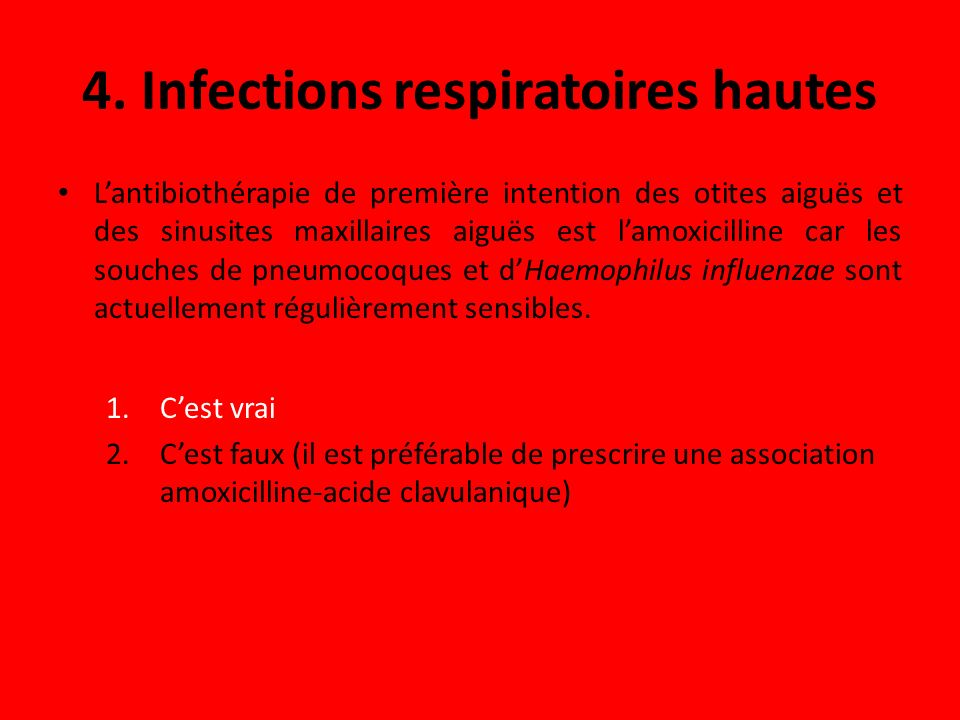 4. Infections respiratoires hautes