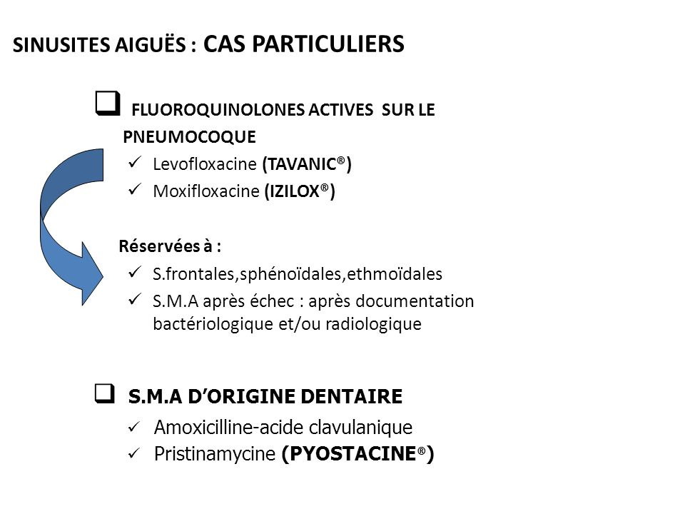 SINUSITES AIGUËS : CAS PARTICULIERS