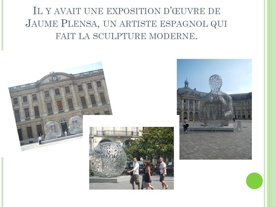 Il y avait une exposition d'œuvre de Jaume Plensa, un artiste espagnol qui fait la sculpture moderne.