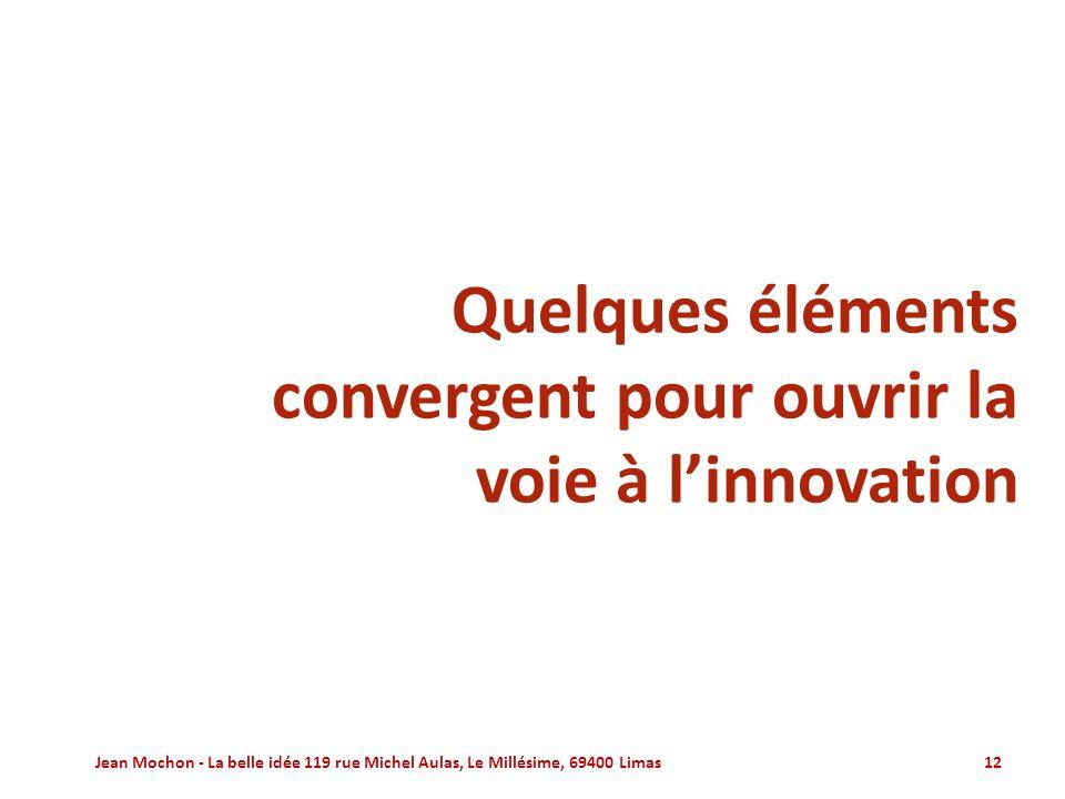 Quelques éléments convergent pour ouvrir la voie à l'innovation