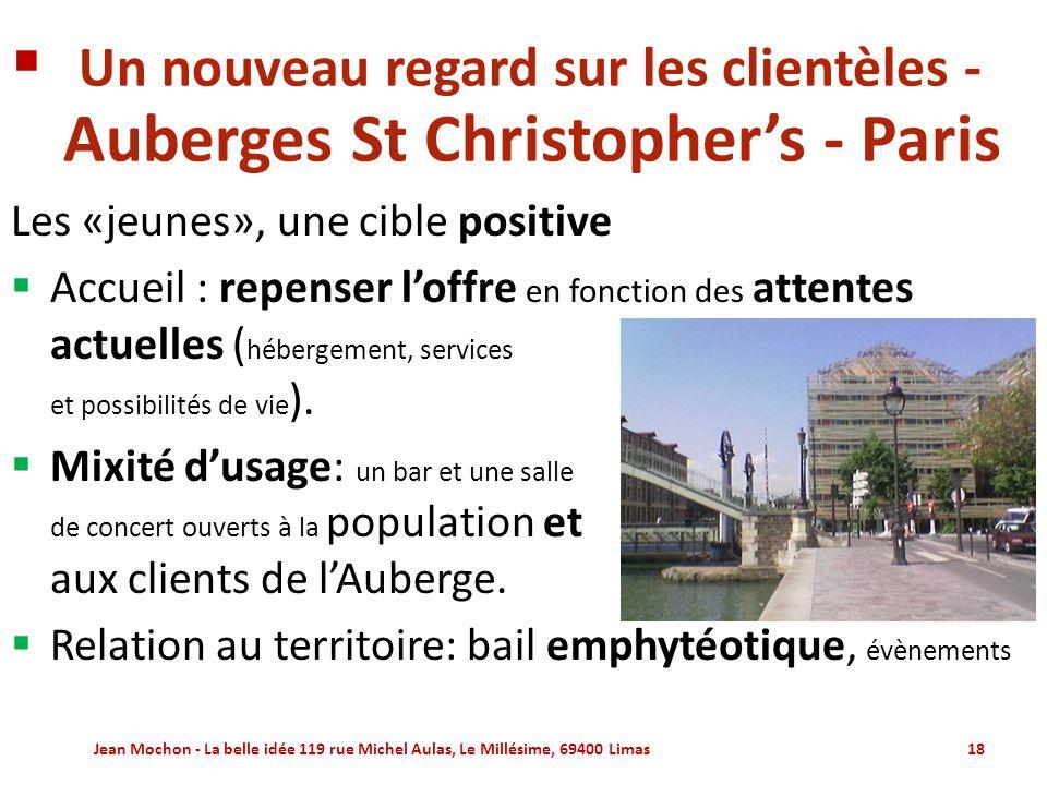 Un nouveau regard sur les clientèles - Auberges St Christopher's - Paris