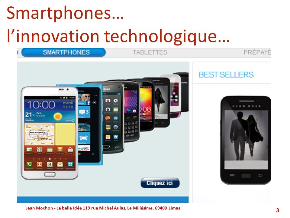 l'innovation technologique…