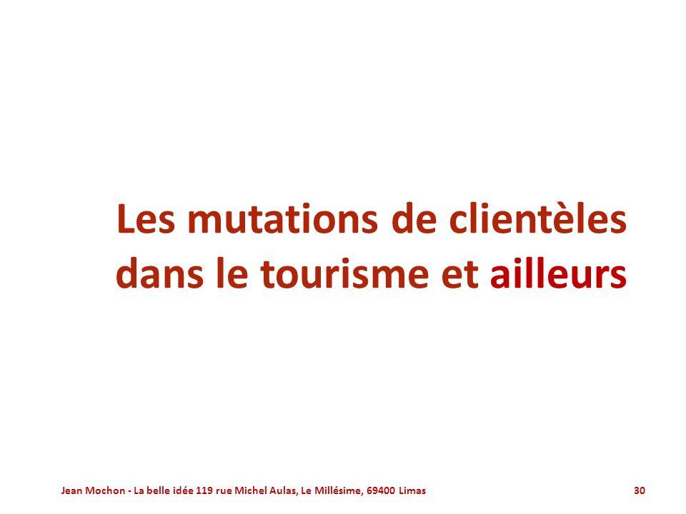 Les mutations de clientèles dans le tourisme et ailleurs