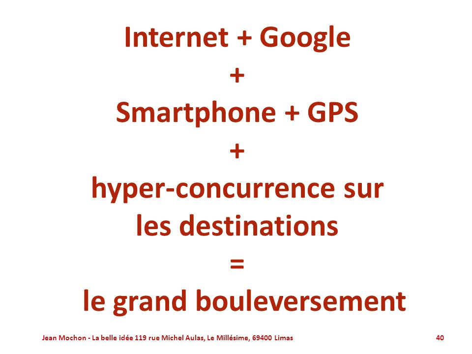 hyper-concurrence sur le grand bouleversement