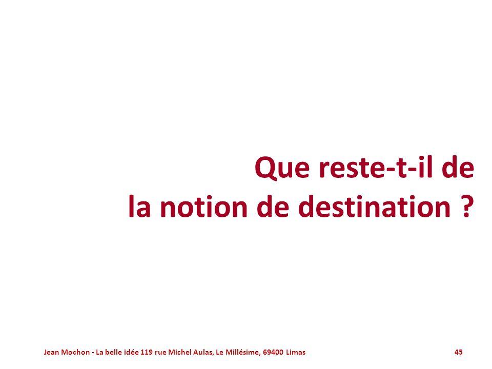 la notion de destination