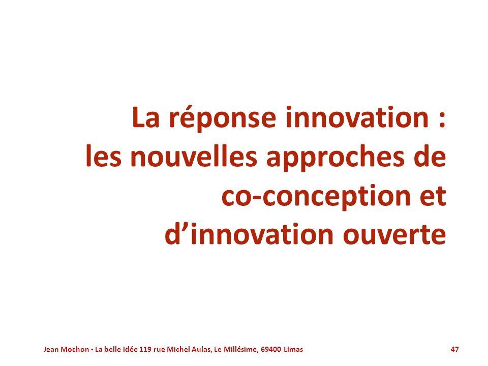 La réponse innovation :