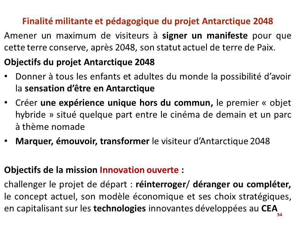 Finalité militante et pédagogique du projet Antarctique 2048