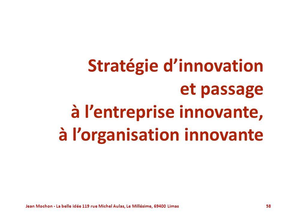 Stratégie d'innovation et passage à l'entreprise innovante,