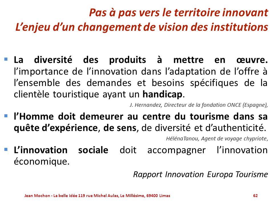 Pas à pas vers le territoire innovant L'enjeu d'un changement de vision des institutions