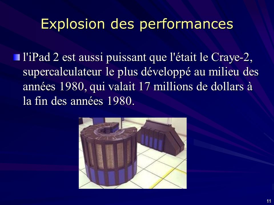 Explosion des performances