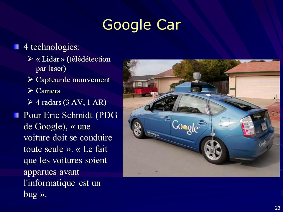 Google Car 4 technologies: