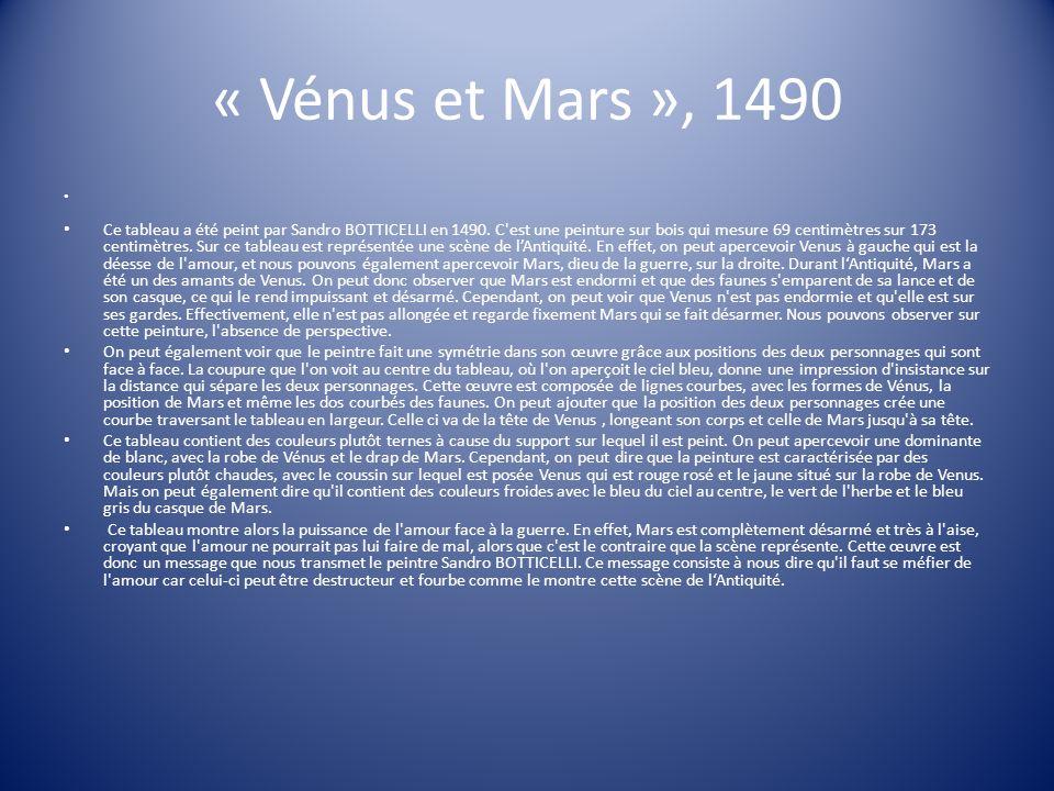 « Vénus et Mars », 1490