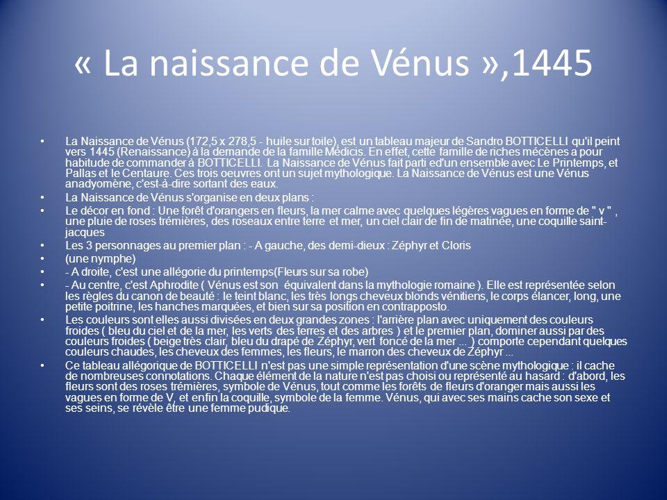 « La naissance de Vénus »,1445
