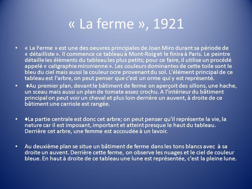 « La ferme », 1921