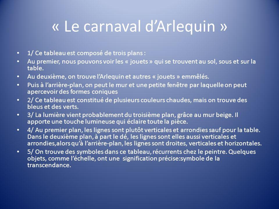 « Le carnaval d'Arlequin »