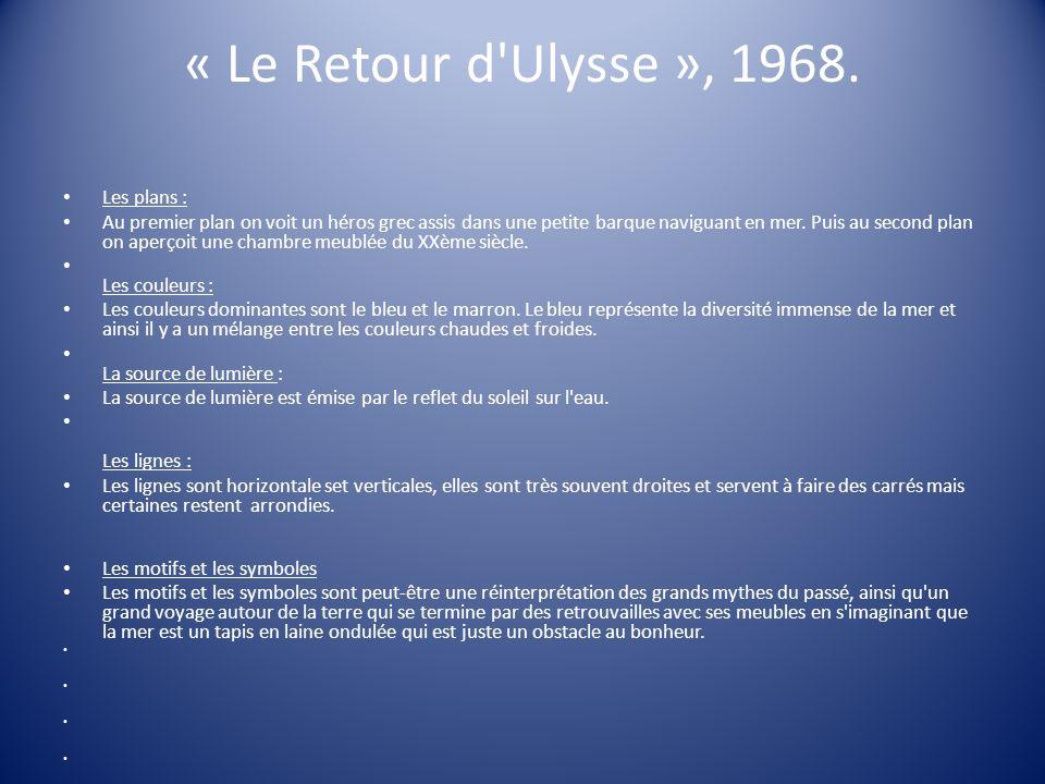 « Le Retour d Ulysse », 1968. Les plans :
