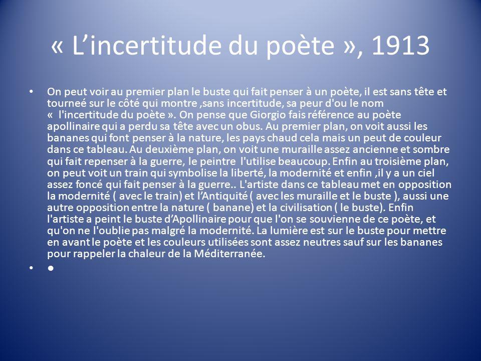 « L'incertitude du poète », 1913