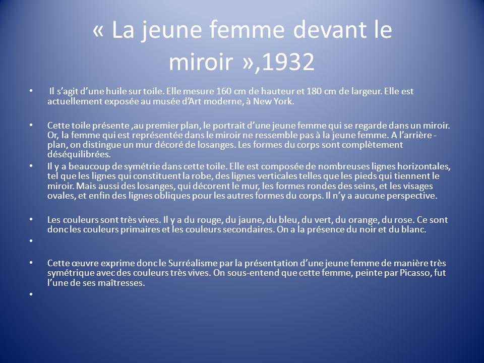 « La jeune femme devant le miroir »,1932