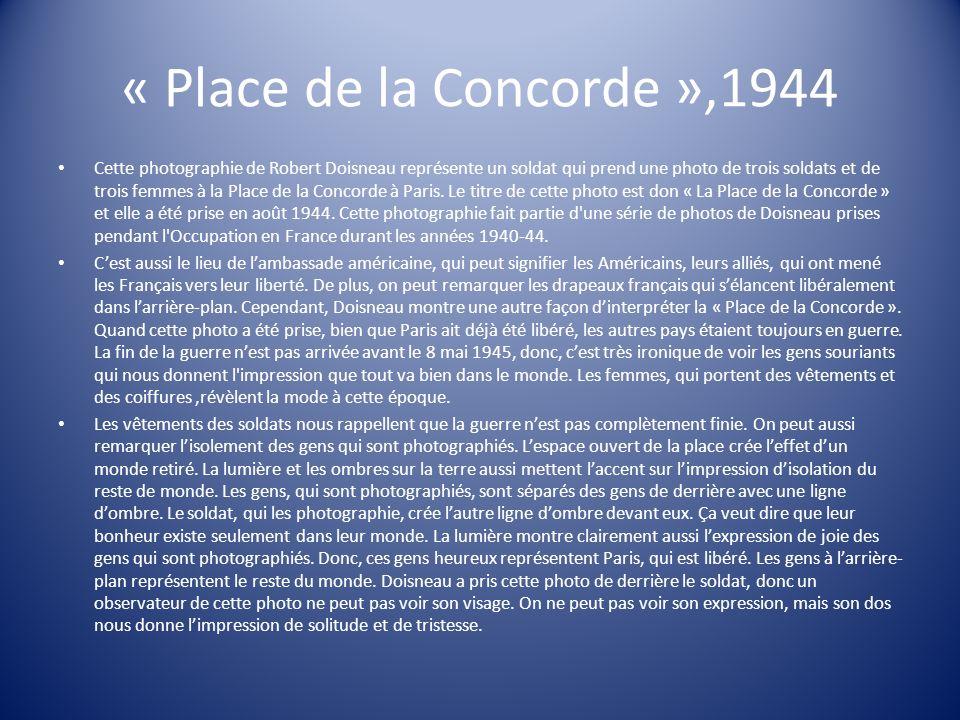 « Place de la Concorde »,1944