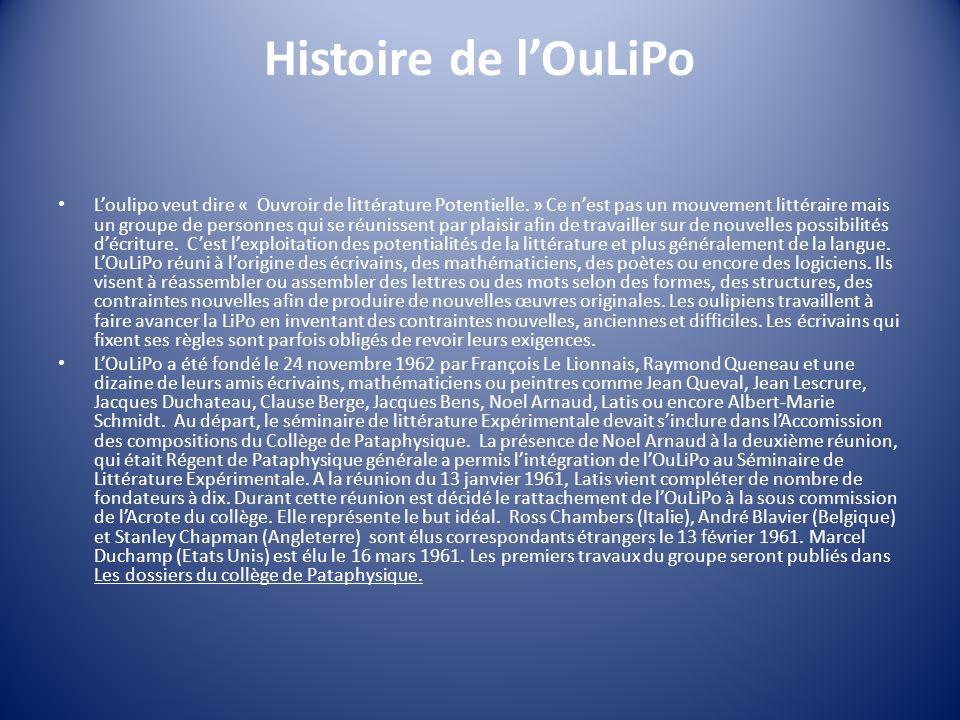 Histoire de l'OuLiPo