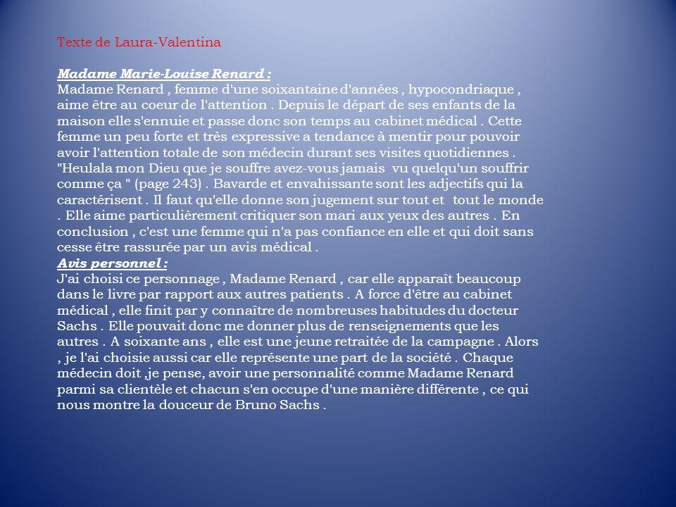 Texte de Laura-Valentina