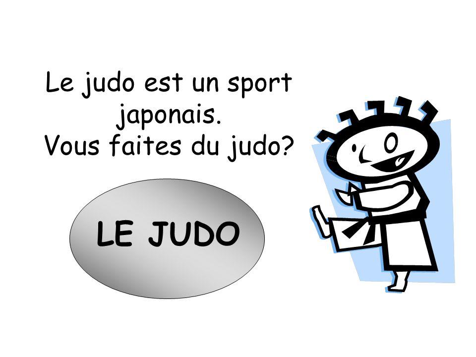 Le judo est un sport japonais.