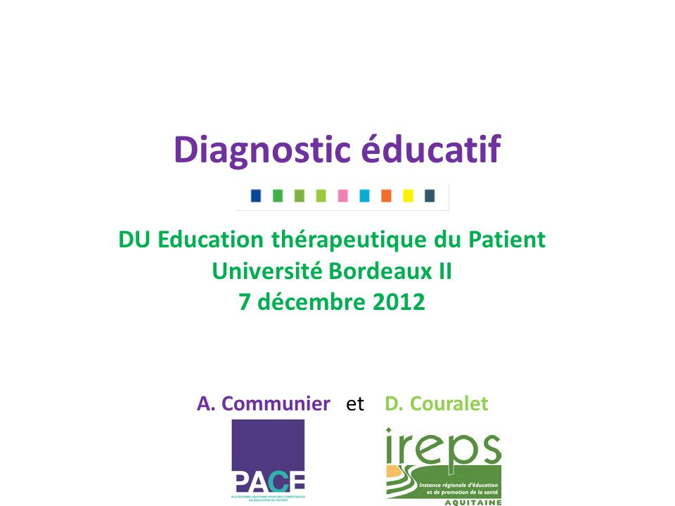 DU Education thérapeutique du Patient Université Bordeaux II
